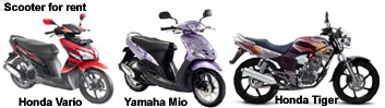 Motor Bike is one solution of transport in Bali